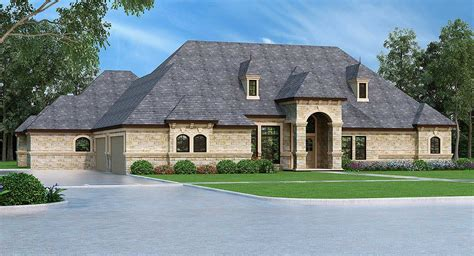 luxury  bed european ranch home plan tx architectural designs house plans