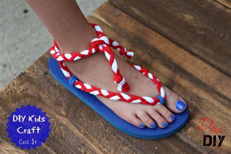flip flops gladiator style diva  diy