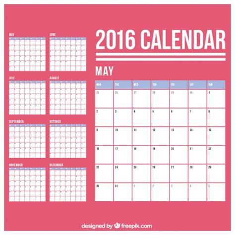 einfache kalender der kostenlosen vektor