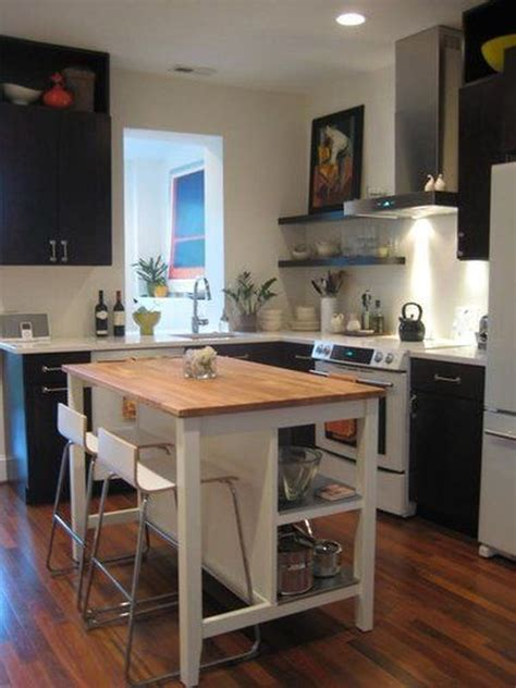 small kitchen island with stools how to save space with a kitchen island kitchens spaces