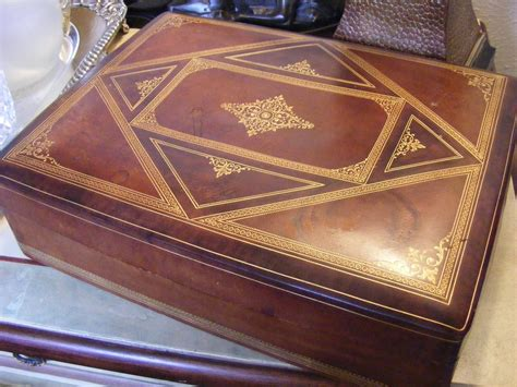 Vintage Italian Leather Box From E3antiques On Ruby Lane