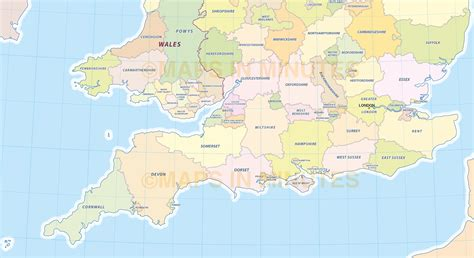 county map england  travel information