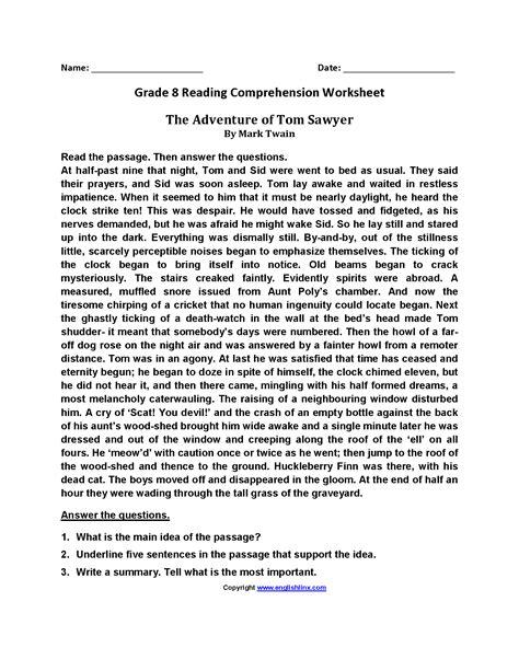 worksheet reading comprehension worksheets  grade