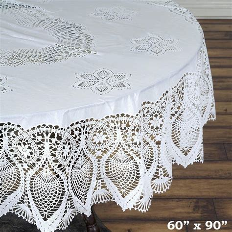 white oval tablecloth 60x90 quot white 0 6 mil thick vinyl eco friendly oval 1055