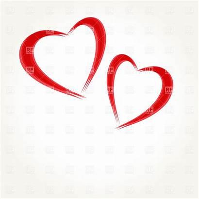 Hearts Clipart Double Vector Royalty Heart Eps