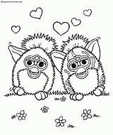 Coloring Colorear Dibujos Dice Furby Furbys Template Sin Pintar sketch template