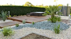amenagement de jardin spa et terrasse en bois exotiques With amenagement petit jardin avec piscine 9 album olivier et palmier arbor mineral paysagiste