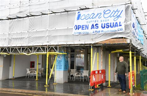 Coffee is very reasonably priced. Ocean City Coffee Shop suffers as luxury Rivage aparments undergoes recladding - Plymouth Live