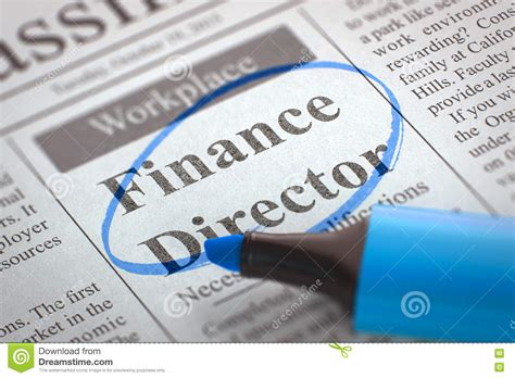 We`re Hiring Finance Director. 3D. Royalty-Free Stock ...