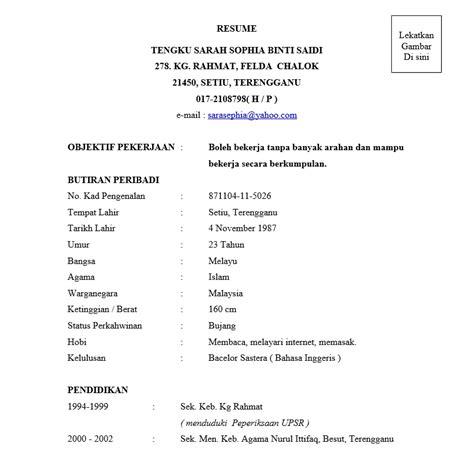 edit  contoh resume terbaik  microsoft