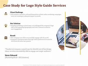 Case Study For Logo Style Guide Services Ppt Powerpoint