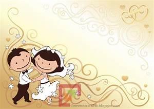 [Vector] Cute Bride and Groom - Free Vector Art