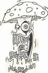 Schwarze Shroom Tegninger Wachabuy Artpriscilla Psychedelische Pilz Vetorizados Bleistiftzeichnungen Christmasen sketch template