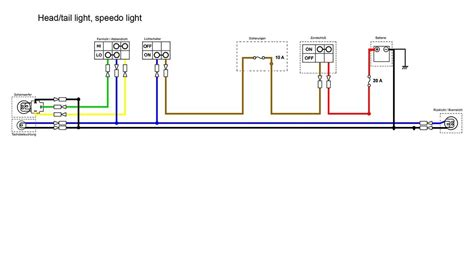 Headlight Section The Simplified Wiring Diagram For