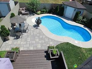 cour arriere de reve a voir a fabreville duproprio With amenagement jardin avec pierres 10 amenagement paysager piscine creusee amenagement spa