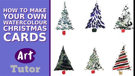 How To Make Your Own Watercolour Christmas Cards Diyfyi