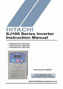 Hitachi Sj100 Series Inverter Im Service Manual Download
