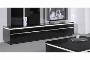 Banc Tv Suspendu : meuble banc tv noir meuble et d co ~ Teatrodelosmanantiales.com Idées de Décoration