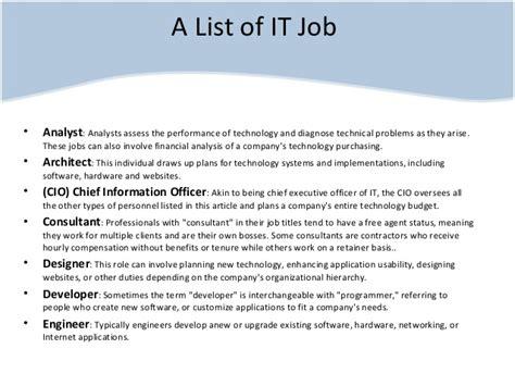 is it or list it information technology career path sri lanka