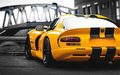 Viper Dodge Cars Yellow Wallpapers Rear Sports