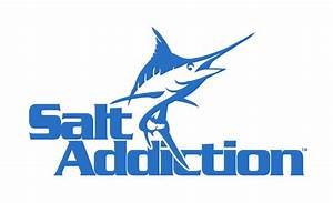 Salt Addiction Marlin Decal Sticker Saltwater Fishing Reel
