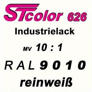 Ral 9010 Reinweiß : 1 1 kg stc 2k pur industrielack 10 1 ral 9010 reinwei lack set mit h rter ebay ~ Orissabook.com Haus und Dekorationen