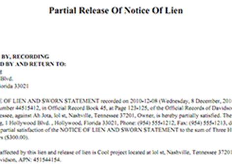 lien release letter sle lien forms preview preliendepot