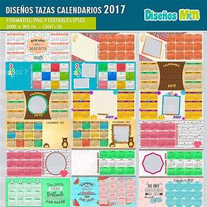 PLANTILLAS CALENDARIO 2017 PARA SUBLIMAR MUGS