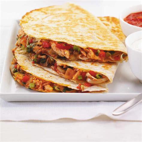 cuisine mexicaine recette quesadillas de poulet ricardo