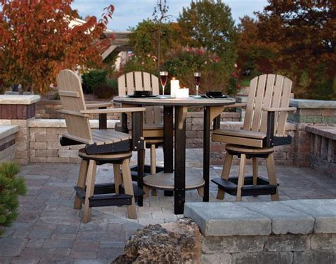 pub table with four chairs amish poly outdoor dining set from dutchcrafters amish