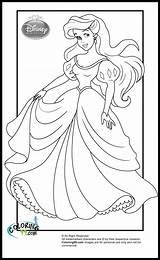 Princess Disney Coloring Pages Princesses Ariel Colors Teamcolors sketch template