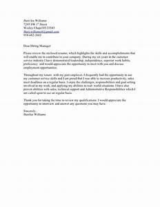 sample cover letter hiring manager sample letters With to the hiring manager cover letter
