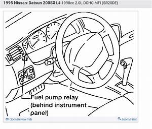 Fuel Pump Relay Location   1995 Nissan Lucino Jj  Trying