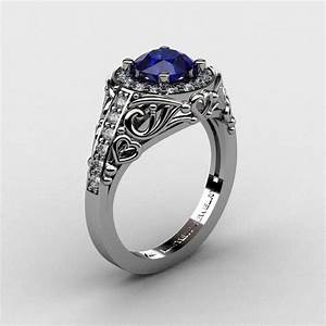 italian 950 platinum 10 ct blue sapphire diamond With italian wedding ring