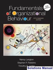 Fundamentals Of Organizational Behaviour Canadian 5th