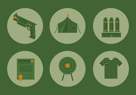 It lets you select each component of the svg file, one at a time, to let you apply edits. Military Icon Vector Set - Download Free Vectors, Clipart ...