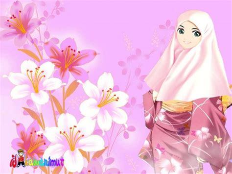 Anime Cantik Islami Kartun Akhwat Kimono Kartunislam