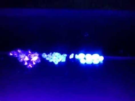 diamonds under ultra violet light youtube