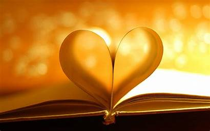 Heart Pages Wallpapers Romantic Books Hearts Background