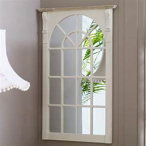 cream wooden vintage country window mirror wall mounted With best brand of paint for kitchen cabinets with old window frame wall art