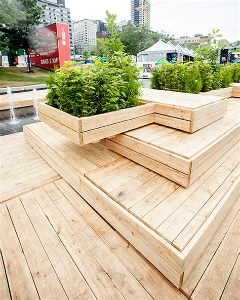 wooden terrace   montreal fashion  design