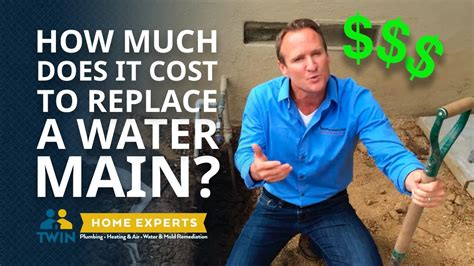 How Much Does It Cost To Replace A Main Water Line? Youtube
