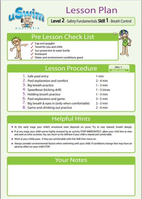 Swimming Lesson Plan Template by 1000 Images About Uswim Lesson Plans On Swim