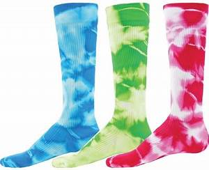 Colorful Neon Tie Dyed Knee High Athletic Sport
