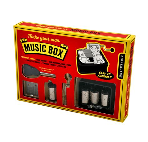 Love music boxes but never seem to be able to find the song you really want? Make Your Own Music Box Set | Pink Cat Shop