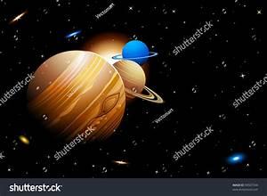 Illustration Solar System Planets Moving Orbits Stock ...