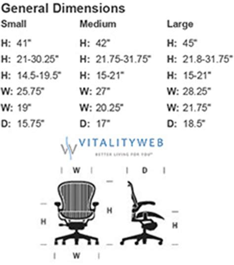 Aeron Chair Size Marking by Herman Miller Aeron Home Office Ergonomic Chair