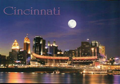 Cincinnati Ohio At Night Paul Brown Stadium Nfl Bengals