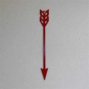 Arrow red metal art wall hanging home decor indian