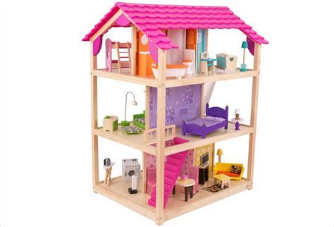 chambre d h e maison de poupée en bois meublée saison hape jouet